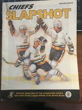 1989 1990 Johnstown Chiefs vs Knoxville Cherokees Slapshot Magazine ECHL Program