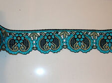 turquoise embroidery trimming costume ribbon festival boho applique lace