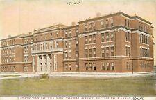 Kansas, Ks, Pittsburg, State Manual Training Normal School 1909 Postcard