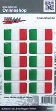 Aufkleber 3D Länder-Flaggen - Italien Italy 10 stck. je 40 x 20 mm - 300008