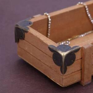 10pcs Furniture Decorative Metal Corners Jewelry Boxes Case Corner Protectors