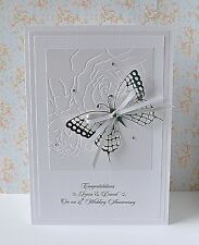 Personalised Wedding Anniversary Card 25th 30th 40th 50th 60th large Butterfly