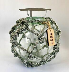 Japanese glass ball candle Lantern L ( Fisherman`s  buoy motif )  OTARU  JAPAN