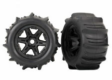 """Traxxas Assembled Paddle Tires & Black 3.8"""" Wheels TRA8674"""