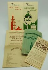 Greenfield Village Henry Ford Museum 1968 Drama Festival Lot Brochures Ephemera