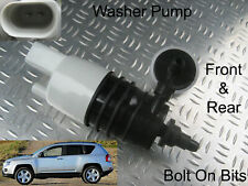 Front & Rear Windscreen Washer Pump Jeep Compass 2007 onwards 2.0 2.2 CRD 2.4