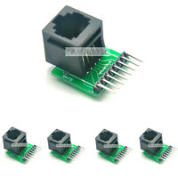 5pcs RJ45 8-pin Connector and Breakout Board Kit