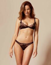 Agent Provocateur LALEH BRA 36C & BRIEF AP Size 3,4 or 5 in BLACK/ BRONZE - BNWT