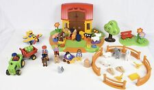 PLAYMOBIL - 123 - 6766 Ferme interactive + Animaux + enclos +véhicules