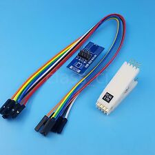 DIP8 Flash IC Programming Clip Adapter Pitch 2.54mm For DIP-8 Chips