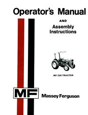Massey Ferguson MF 230 Tractor  up to SN 9A 349200  Operator's Manual