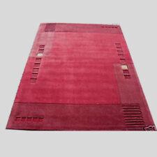 Modern designer red maroon plain border thick rug 120x180 cm