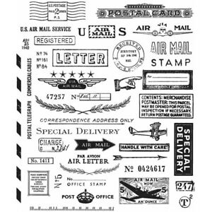 """""""Correspondence"""" Stampers Anonymous by Tim Holtz"""" 8.5""""X7"""""""