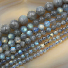"Natural Labradorite Round Beads 15.5"" 3,4,5,7,6,8,10,12,14,16,18mm Pick Size"