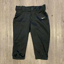 Nike Softball Pants Women's Size M Black Knee Length Tapered Elastic Waist New