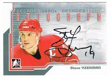 2013-14 ITG DECADES 1990s AUTOGRAPH #A-SY STEVE YZERMAN SP !! RED WINGS !!