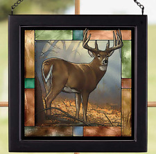 In Prime--Whitetail Deer;  Stained Glass Art by Rosemary Millette Wild Wings