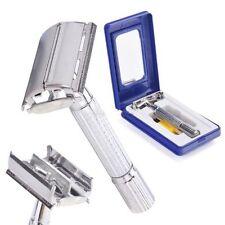 Clasica Máquina De Afeitar Maquinilla Cuchilla Afeitado Razor Blade Silver