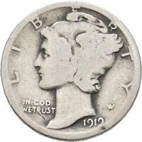 LANZ USA  DIME 1919 PHILADELPHIA Mercury Liktorenbündel Silber €TEZ278