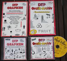 DTP Grafiken und DTP Grafik-Archiv - Copyrightfreie Grafiken - 3 CD-ROMs