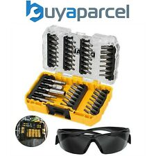 Dewalt 47 Piece Screw Driver Impact Rated Bit Set Hex Shank + Safety Glasses