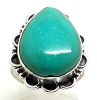 Navajo Design Turquoise Sterling Silver 925 Ring 7g Sz8 SH254