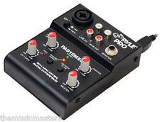 2 CH Mini DJ Audio Microphone Music Pro Sound MIXER USB Interface Home Studio