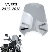 Windscreen Windshield Screen w/Bracket For 2015-20 Kawasaki Vulcan S EN 650 G BU