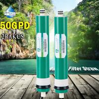 2PCS Reverse Osmosis 50GPD Universal Replacement Water Pure Membrane RO Filter++