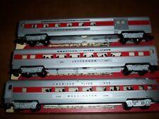 American Flyer Train # 24867,24868 & 24869 Red Strip Streamline Passenger Cars