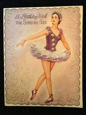 VINTAGE GIRLS BIRTHDAY CARD 1930s