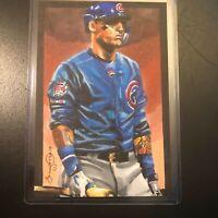 Javier Baez Chicago Cubs 1/1 hand drawn original art sketch card aceo