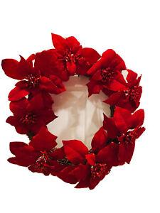 Christmas Wreath Red poinsettias