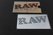 Herb GRINDER RAW THREE WAY SHREDDER CARD~New~Authorized Raw Distributor ~