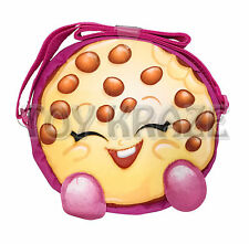 "SHOPKINS PURSE! KOOKY COOKIE PINK COOKIE SMALL FUZZY CARRY HAND BAG 7"" NWT"