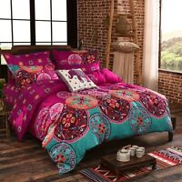 Mandala Bohemian Quilt Duvet Doona Cover Set Oriental Queen/King Single Size Bed