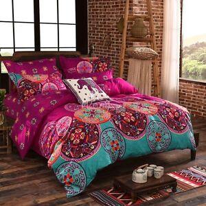 Mandala Bohemian Quilt Duvet Doona Cover Set Double/Queen/King Single Size Bed