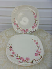 SET OF 4 METLOX POPPY TRAIL PEACH BLOSSOM 10 1/4 DINNER PLATES