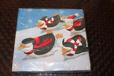 NEW MERRY MADAGASCAR  CHRISTMAS PENGUINS LUNCHEON NAPKINS  PARTY SUPPLIES