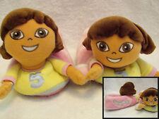 Dora the Explorer Doll Head  Girls Plush Toddler Slippers 9-10 Large nice