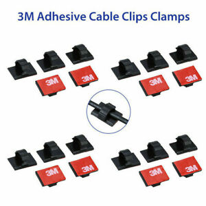 20pcs For Car Dash Camera 3M Self-Adhesive Wire Tie Cable Clamp Clip Holder (L50