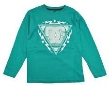 DC Shoes Big Boys L/S Teal & White Logo Top Size 10/12 14/16 18/20 $22