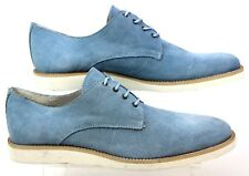 MENS ASK THE MISSUS ENERGY WEDGE BLUE SUEDE SMART CASUAL SHOES UK SIZE 9 FADED