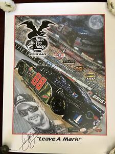 DALE EARNHARDT JR Leave A Mark SAM BASS signed autograph 18x24 Poster