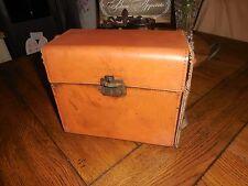 ROUGH CONDITION Antique Polaroid Leather Case W/ Parts Orange Lens