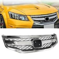 For 2011-2012 Honda Accord Sedan Chrome Front Hood Honeycomb Grille Upper Grill