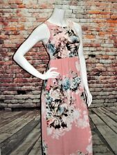 NEW BeLLaMiE Womens FLoRaL MAXI Hand Pockets FuLL Length DReSS SIZE M