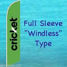 CRICKET GREEN WINDLESS FEATHER FLAG Swooper Flutter Banner Advertising Sign 3050