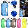 2.2L Large BPA Free Water Bottle Cap Drink Kettle Sport Training Workout Gym