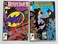 DETECTIVE COMICS #608 #609 1ST APP ANARKY MID/HIGH GRADE LOT OF 2 DC COMICS